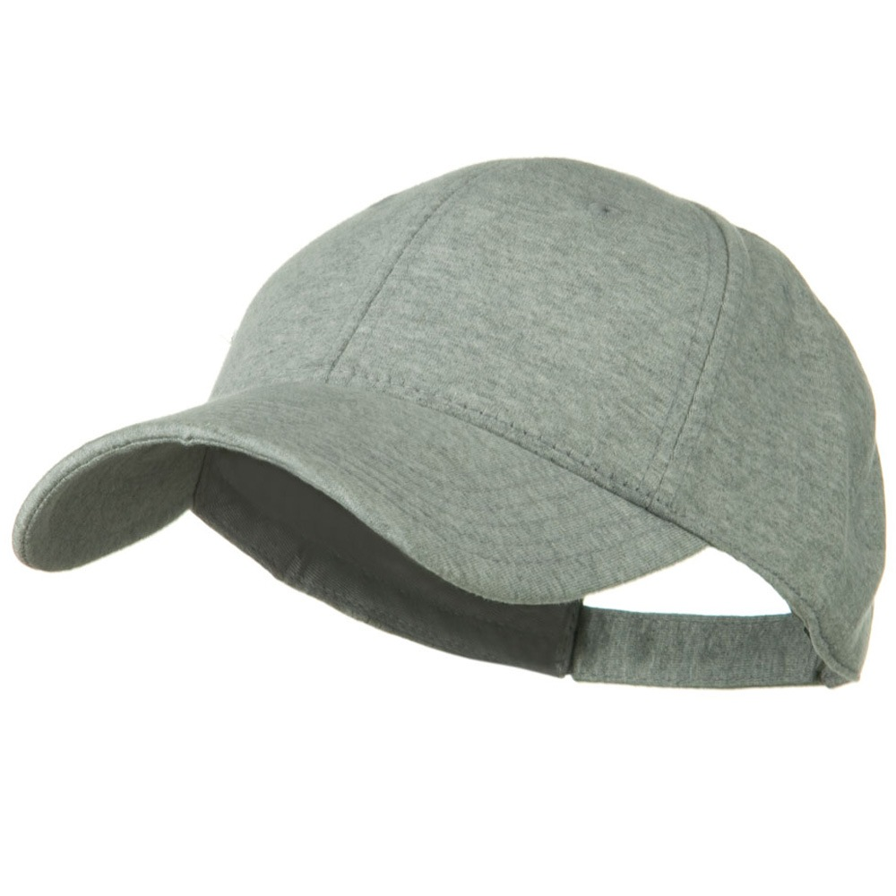 Comfy Cotton Jersey Knit Low Profile Strap Cap - Heather Grey - Hats and Caps Online Shop - Hip Head Gear