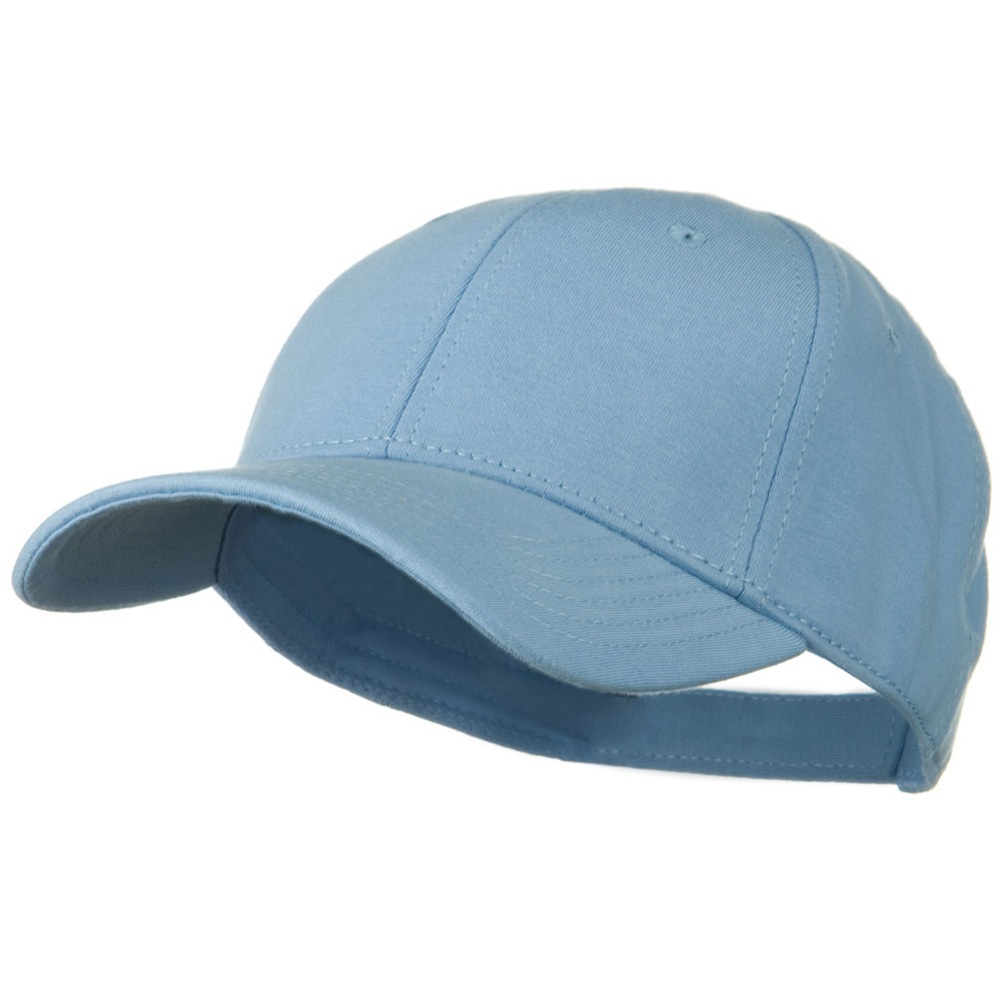Comfy Cotton Jersey Knit Low Profile Strap Cap - Light Blue - Hats and Caps Online Shop - Hip Head Gear