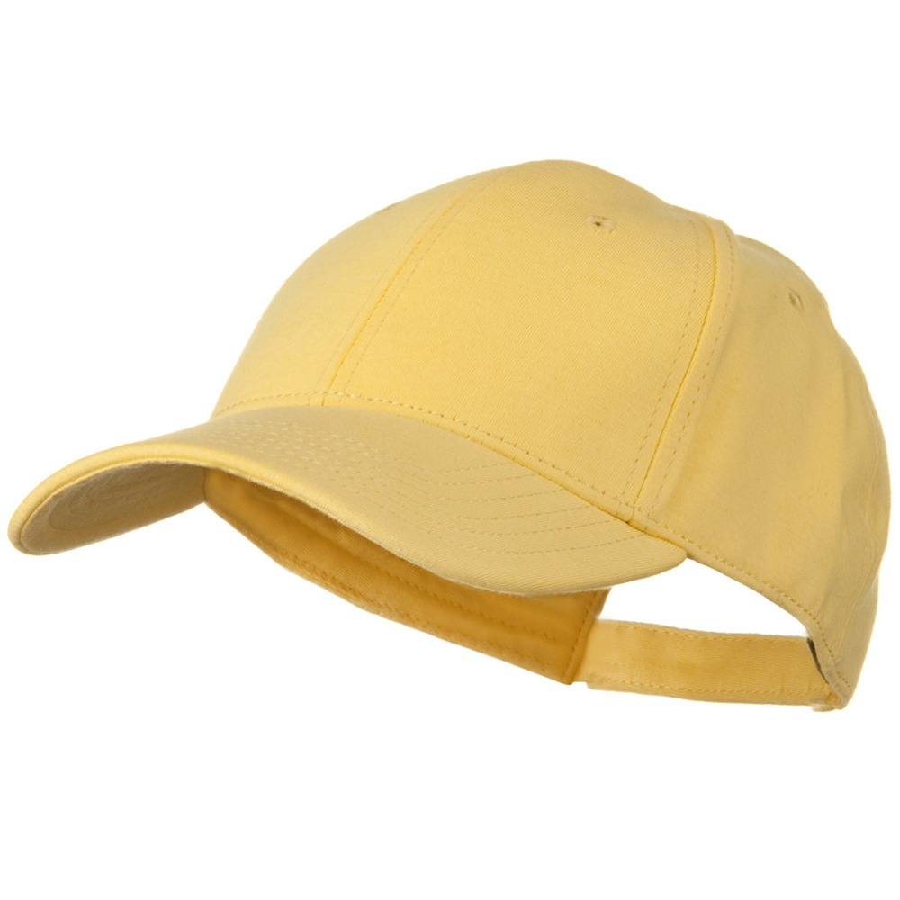 Comfy Cotton Jersey Knit Low Profile Strap Cap - Maize - Hats and Caps Online Shop - Hip Head Gear