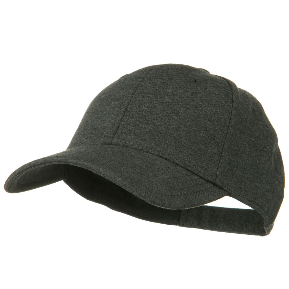 Comfy Cotton Jersey Knit Low Profile Strap Cap - Heather Black - Hats and Caps Online Shop - Hip Head Gear