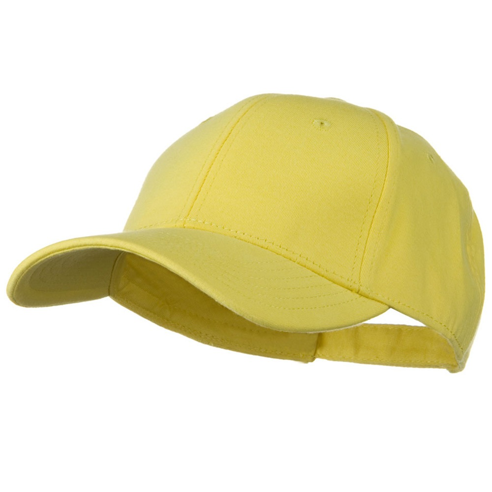 Comfy Cotton Jersey Knit Low Profile Strap Cap - Light Yellow - Hats and Caps Online Shop - Hip Head Gear