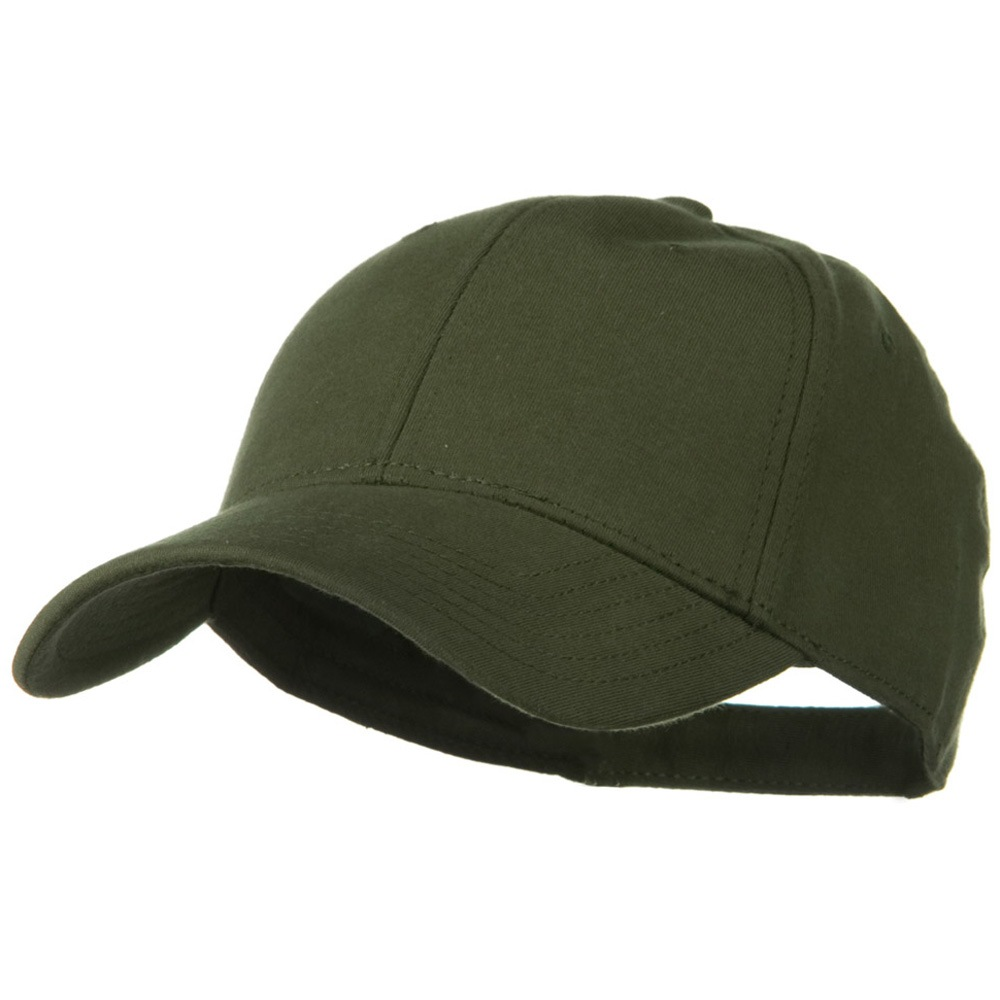 Comfy Cotton Jersey Knit Low Profile Strap Cap - Military Green - Hats and Caps Online Shop - Hip Head Gear