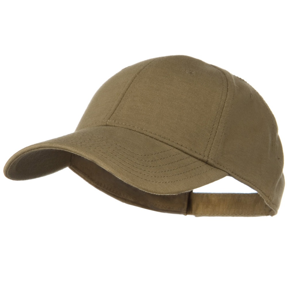 Comfy Cotton Jersey Knit Low Profile Strap Cap - Khaki Brown - Hats and Caps Online Shop - Hip Head Gear