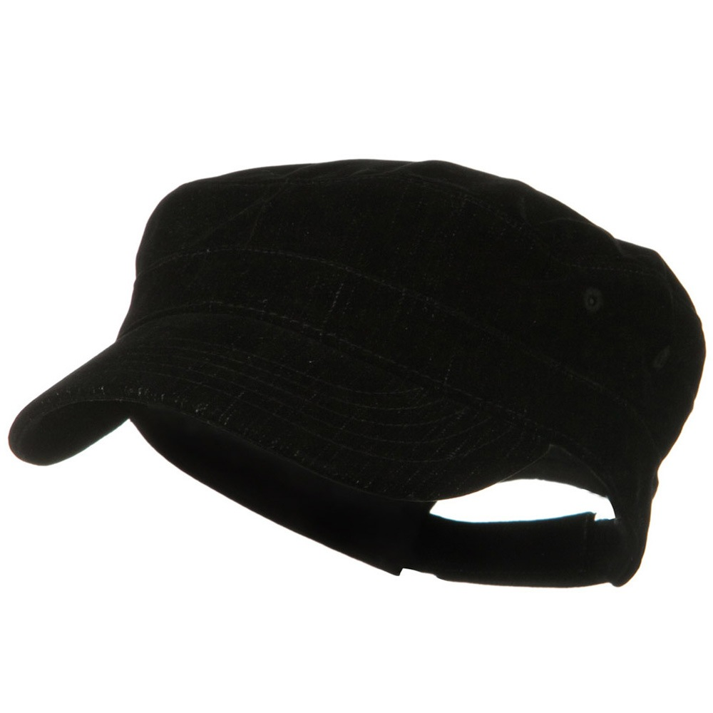 Abigail Special Polyester Denim Fidel Cap - Black - Hats and Caps Online Shop - Hip Head Gear