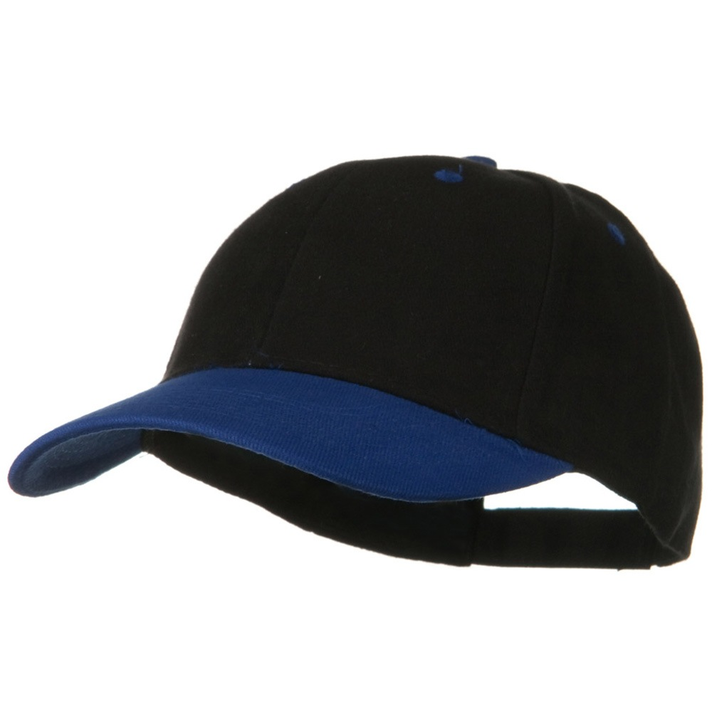 2 Tone Brushed Bull Denim Mid Profile Cap - Royal Black - Hats and Caps Online Shop - Hip Head Gear
