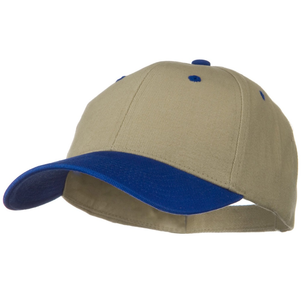 2 Tone Brushed Bull Denim Mid Profile Cap - Royal Khaki - Hats and Caps Online Shop - Hip Head Gear