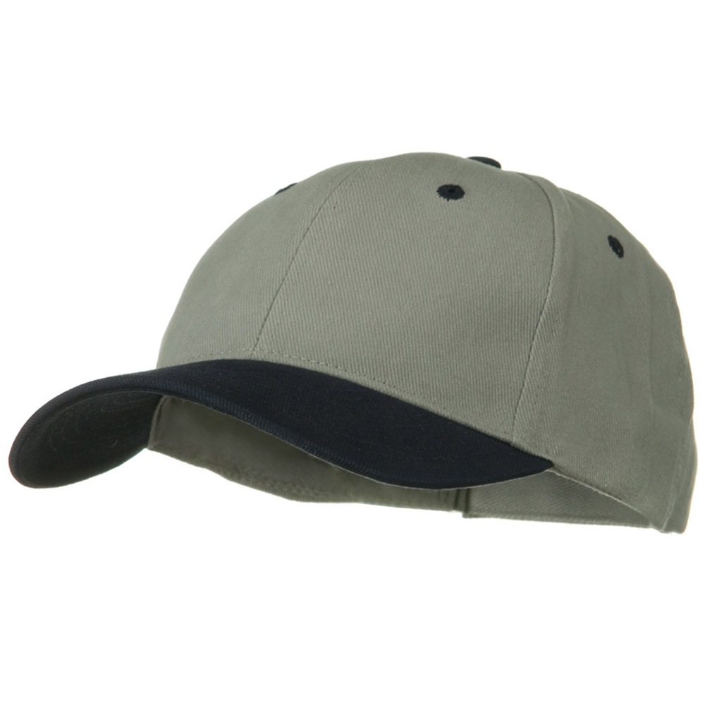 2 Tone Brushed Bull Denim Mid Profile Cap - Navy Grey - Hats and Caps Online Shop - Hip Head Gear