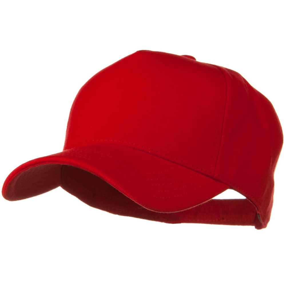 Comfy Cotton Jersey Knit 5 Panel Cap - Red - Hats and Caps Online Shop - Hip Head Gear