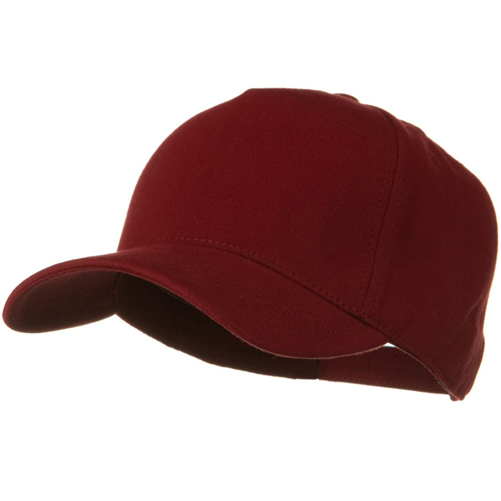 Comfy Cotton Jersey Knit 5 Panel Cap - Maroon - Hats and Caps Online Shop - Hip Head Gear
