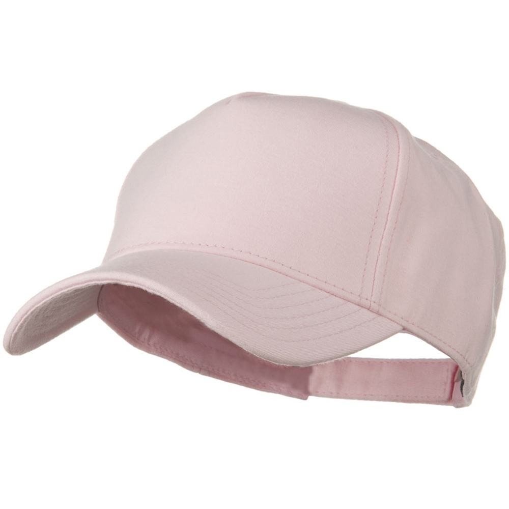 Comfy Cotton Jersey Knit 5 Panel Cap - Soft Pink - Hats and Caps Online Shop - Hip Head Gear