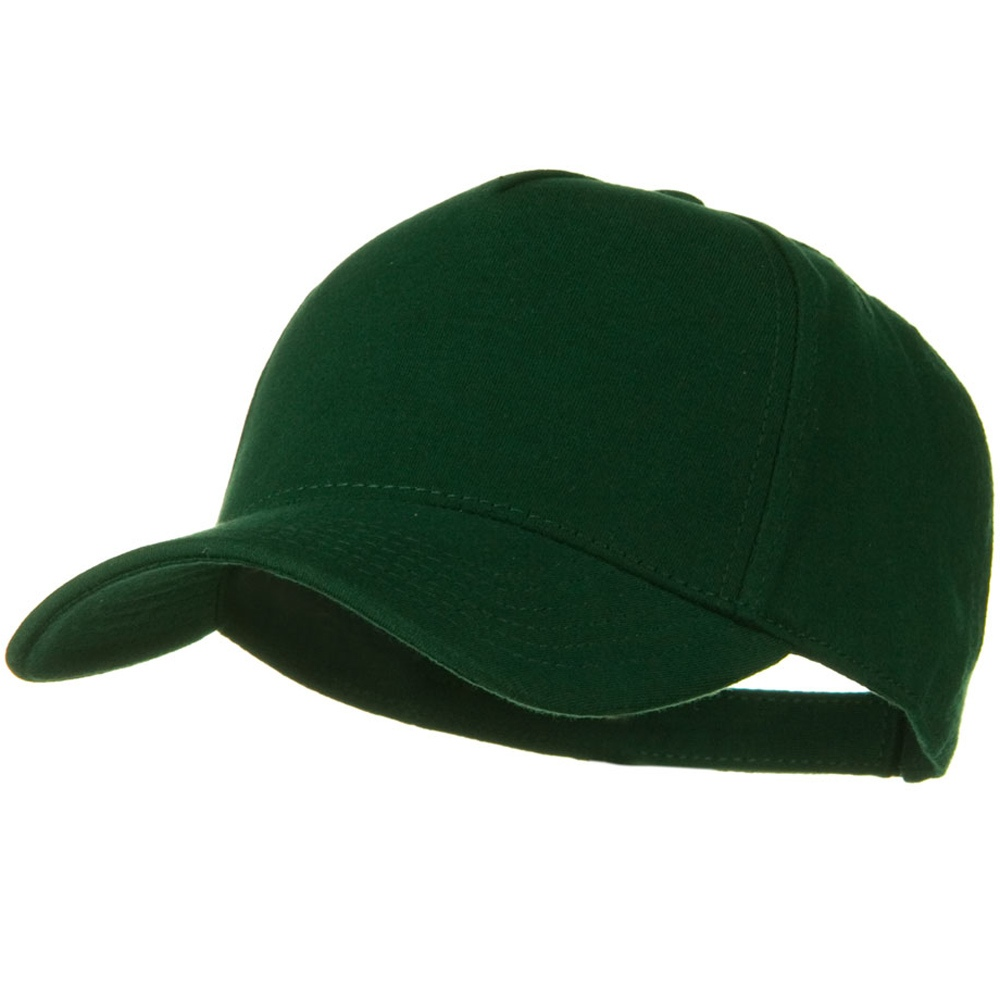 Comfy Cotton Jersey Knit 5 Panel Cap - Dk Green - Hats and Caps Online Shop - Hip Head Gear