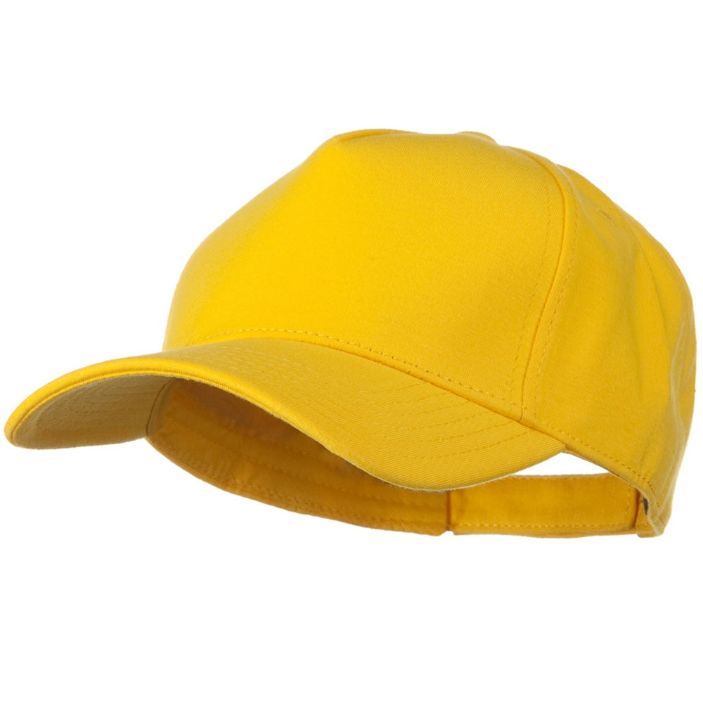Comfy Cotton Jersey Knit 5 Panel Cap - Yellow - Hats and Caps Online Shop - Hip Head Gear