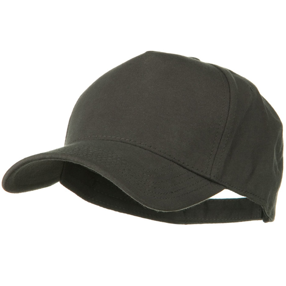 Comfy Cotton Jersey Knit 5 Panel Cap - Charcoal Grey - Hats and Caps Online Shop - Hip Head Gear