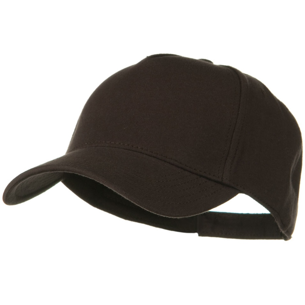 Comfy Cotton Jersey Knit 5 Panel Cap - Dark Brown - Hats and Caps Online Shop - Hip Head Gear