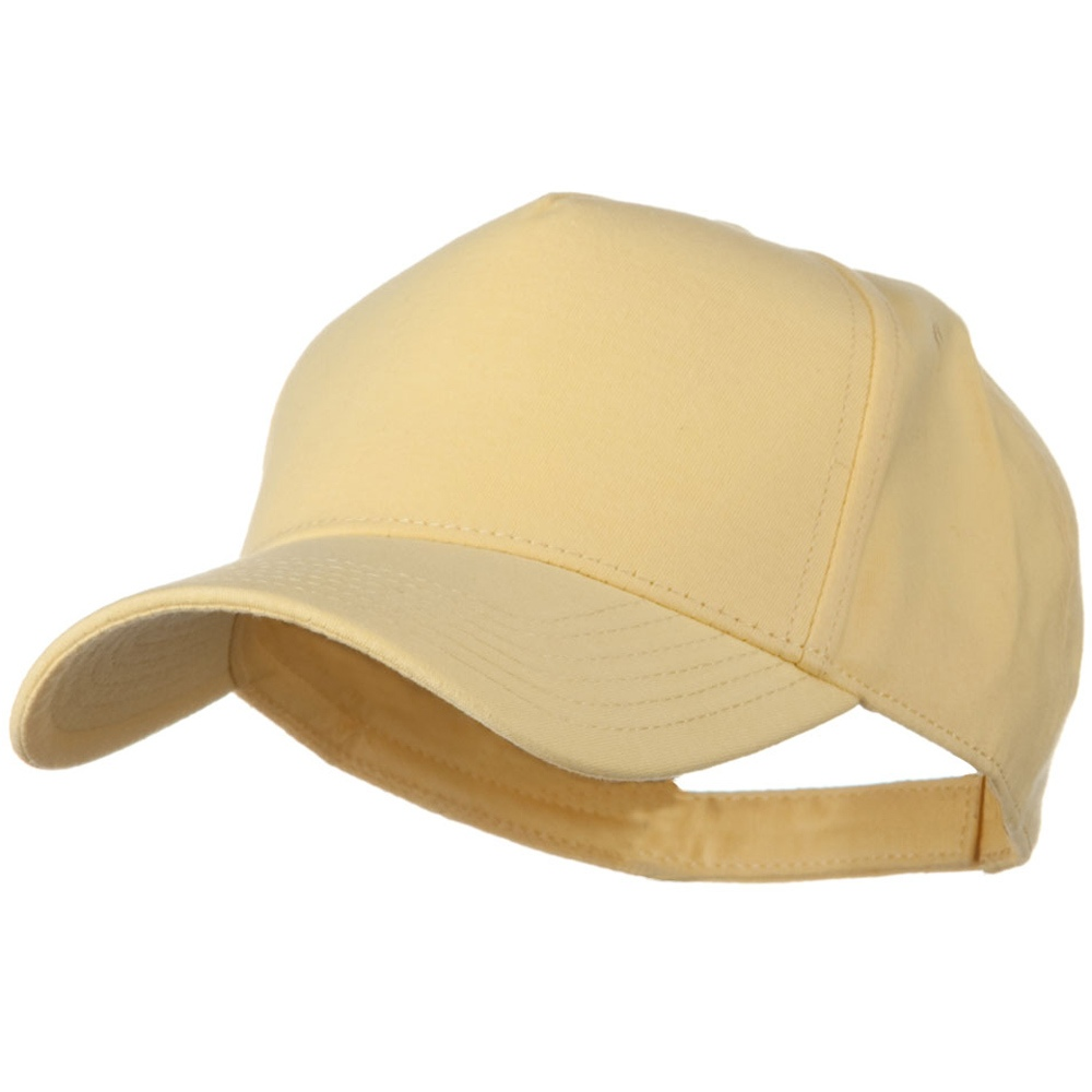 Comfy Cotton Jersey Knit 5 Panel Cap - Soft Yellow - Hats and Caps Online Shop - Hip Head Gear
