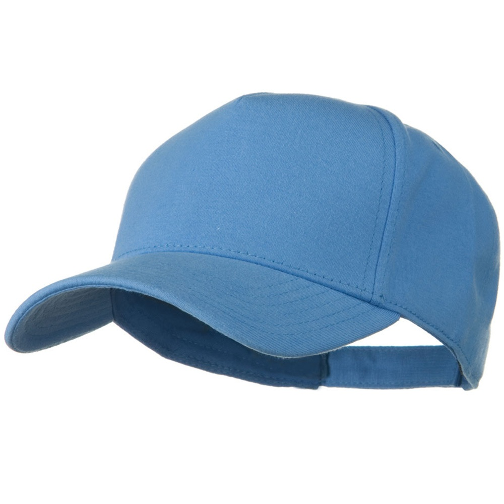 Comfy Cotton Jersey Knit 5 Panel Cap - Carolina Blue - Hats and Caps Online Shop - Hip Head Gear