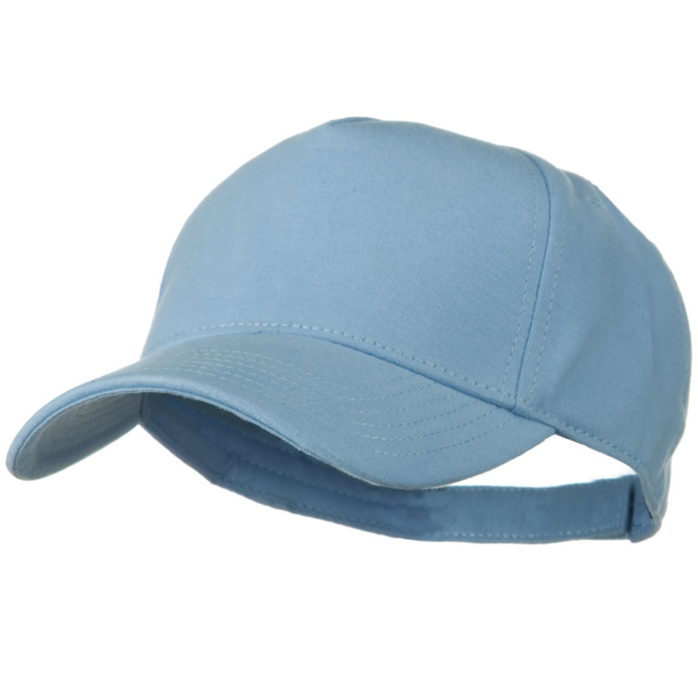 Comfy Cotton Jersey Knit 5 Panel Cap - Light Blue - Hats and Caps Online Shop - Hip Head Gear