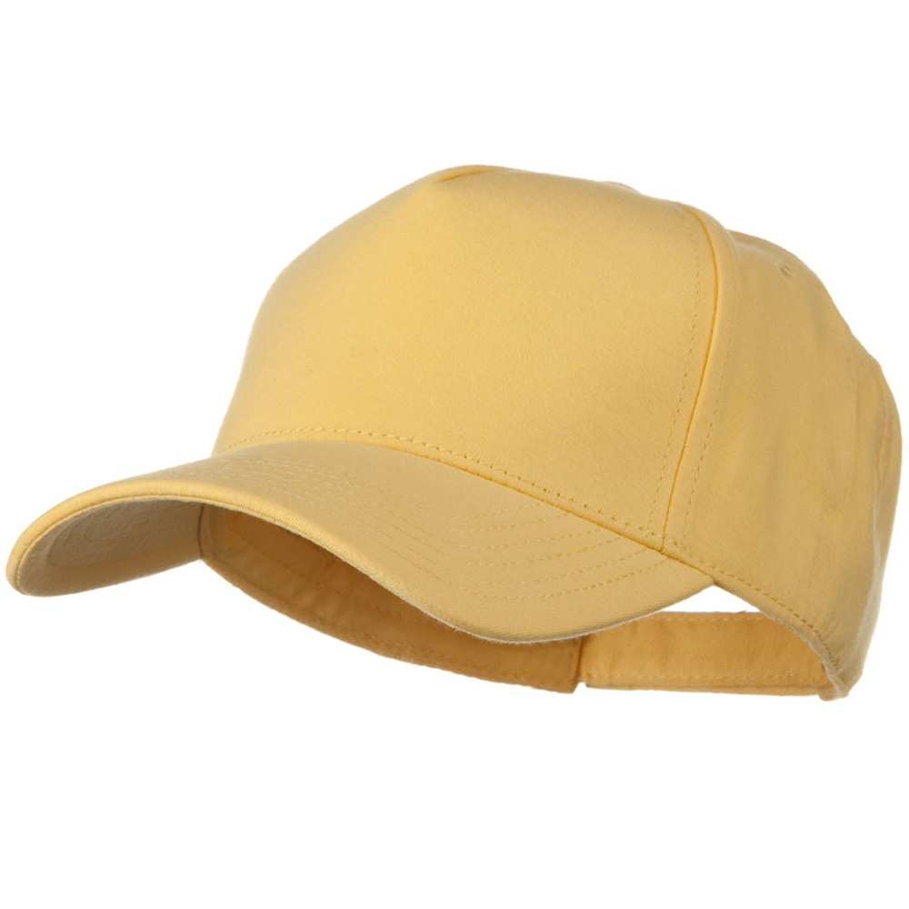 Comfy Cotton Jersey Knit 5 Panel Cap - Maize - Hats and Caps Online Shop - Hip Head Gear