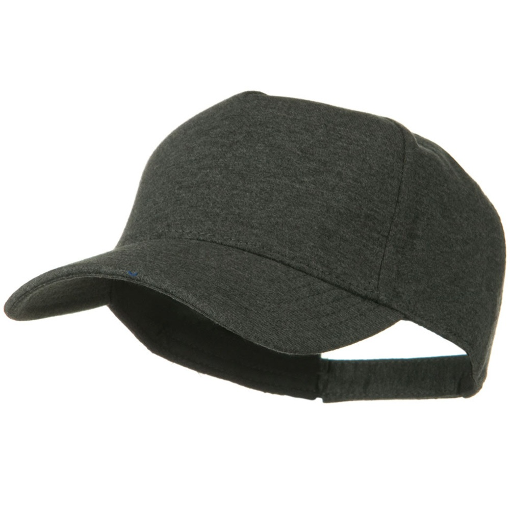 Comfy Cotton Jersey Knit 5 Panel Cap - Heather Black - Hats and Caps Online Shop - Hip Head Gear