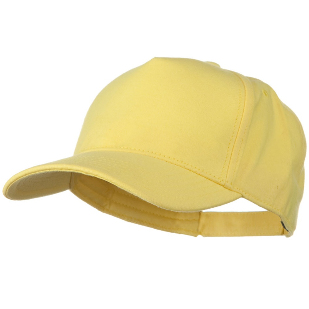 Comfy Cotton Jersey Knit 5 Panel Cap - Light Yellow - Hats and Caps Online Shop - Hip Head Gear