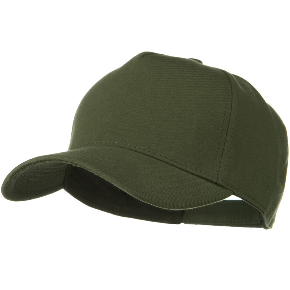 Comfy Cotton Jersey Knit 5 Panel Cap - Military Green - Hats and Caps Online Shop - Hip Head Gear