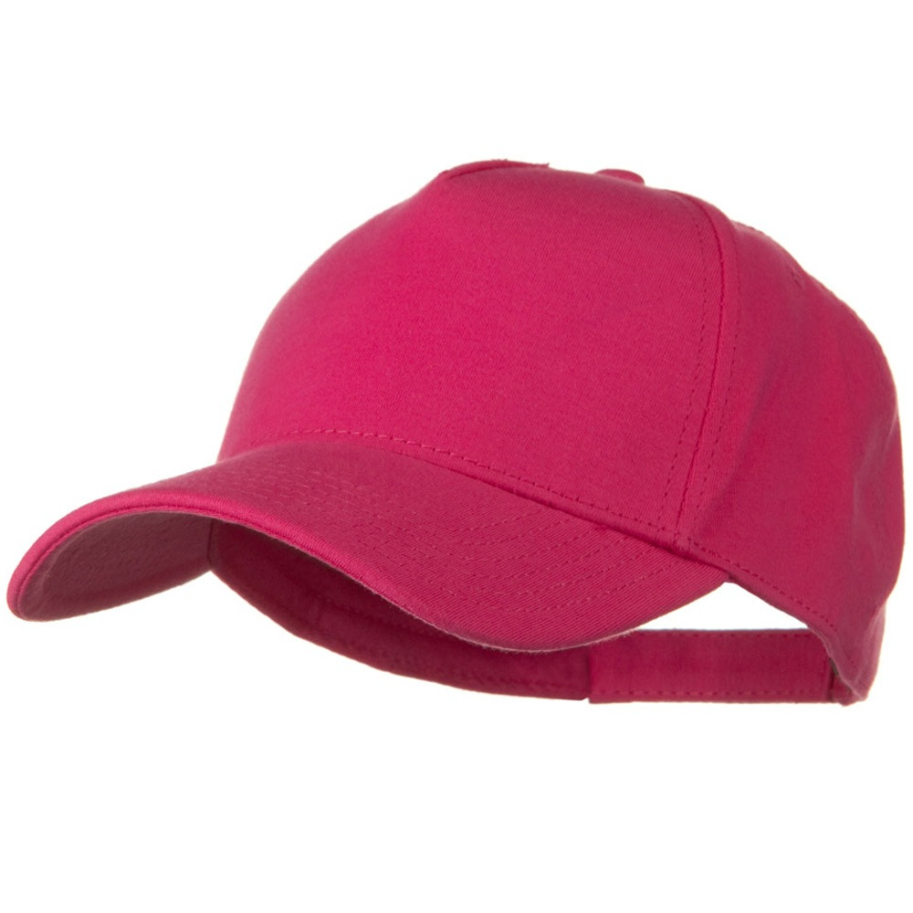 Comfy Cotton Jersey Knit 5 Panel Cap - Hot Pink - Hats and Caps Online Shop - Hip Head Gear
