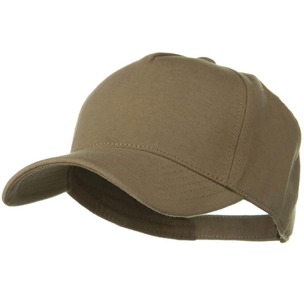 Comfy Cotton Jersey Knit 5 Panel Cap - Khaki Brown - Hats and Caps Online Shop - Hip Head Gear