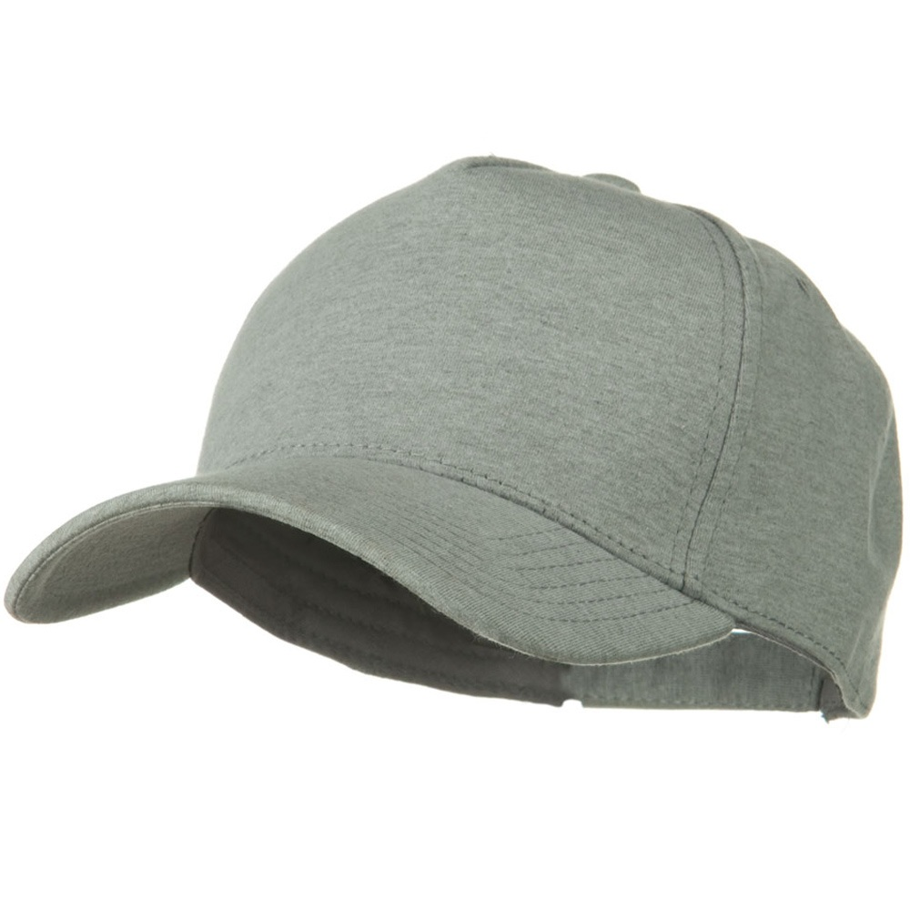 Comfy Cotton Jersey Knit 5 Panel Cap - Heather Grey - Hats and Caps Online Shop - Hip Head Gear
