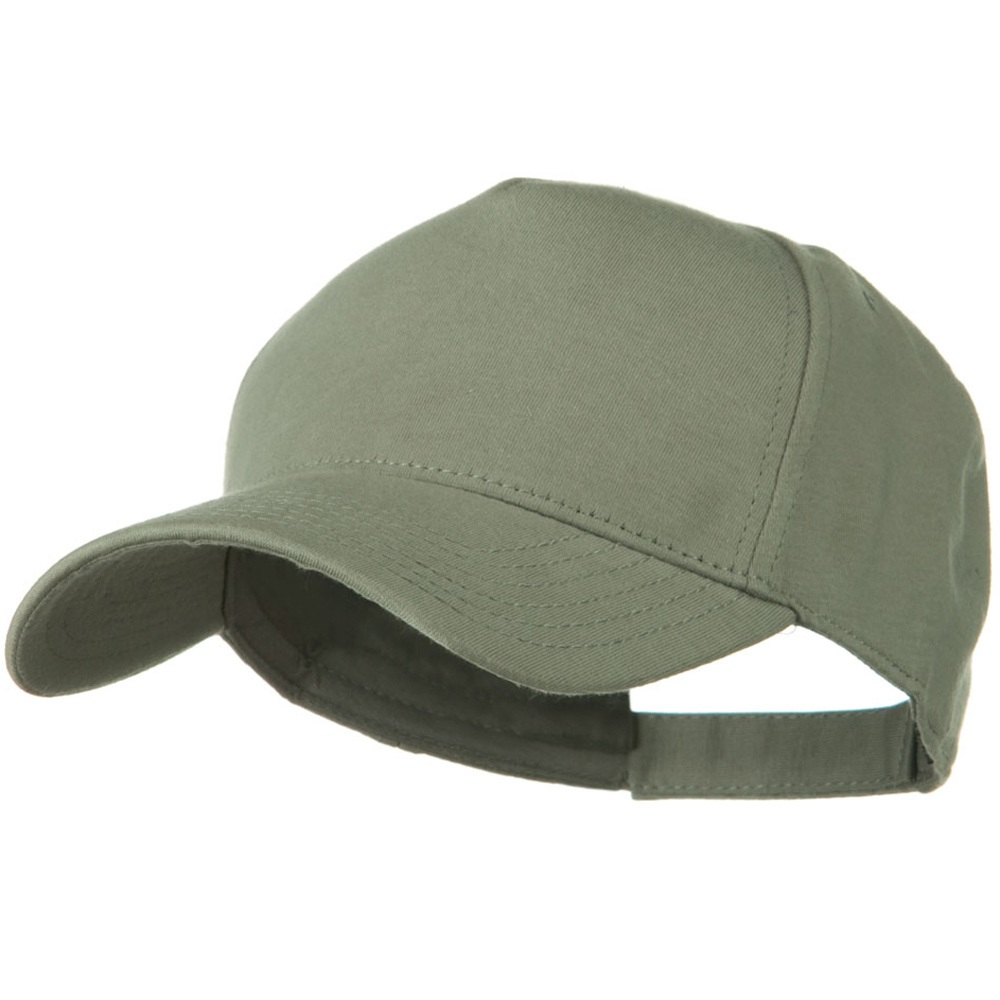 Comfy Cotton Jersey Knit 5 Panel Cap - Grey - Hats and Caps Online Shop - Hip Head Gear