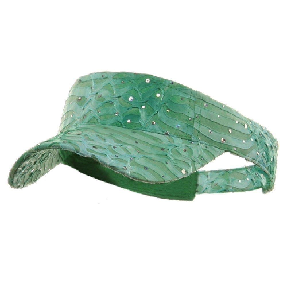 Multi Color Animal Print Visor - Lime - Hats and Caps Online Shop - Hip Head Gear