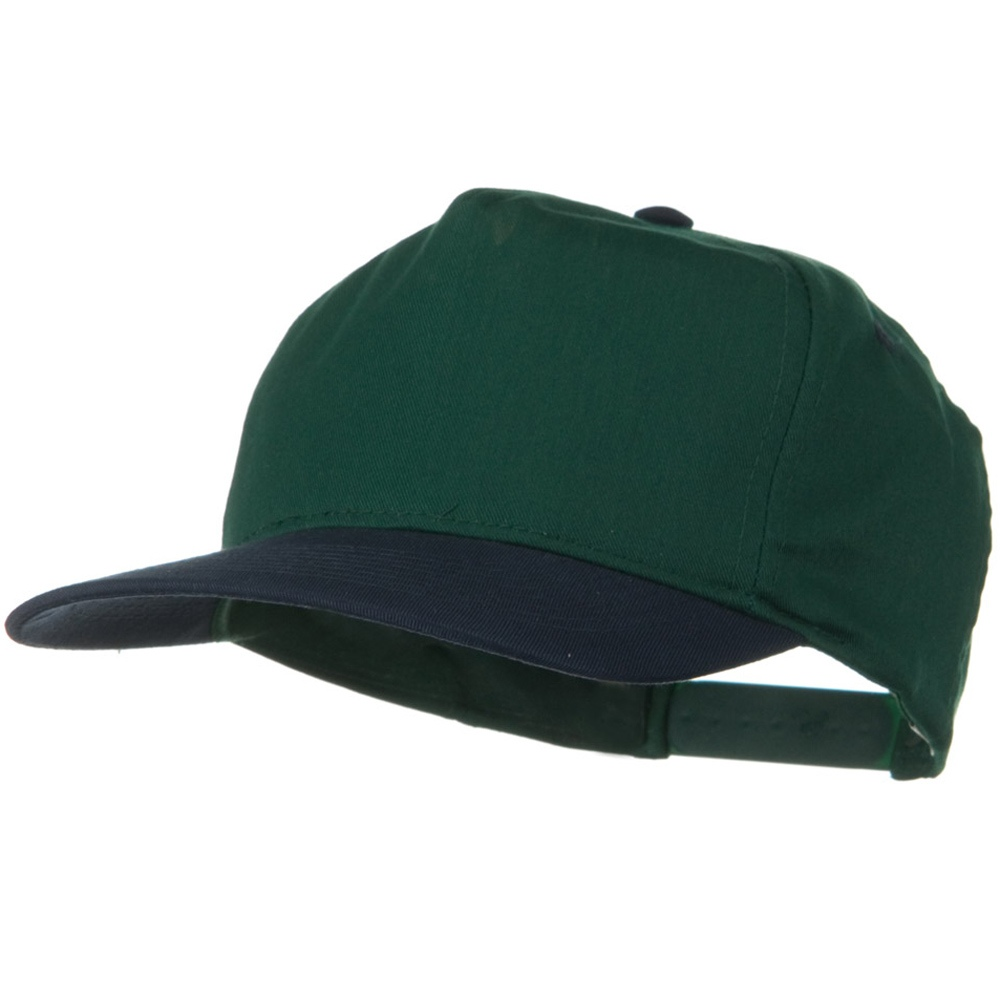 2 Tone Cotton Twill Pro style Golf Cap - Navy Dark Green - Hats and Caps Online Shop - Hip Head Gear