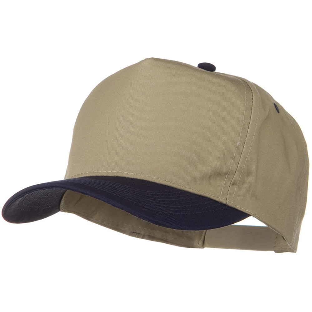 2 Tone Cotton Twill Pro style Golf Cap - Navy Khaki - Hats and Caps Online Shop - Hip Head Gear