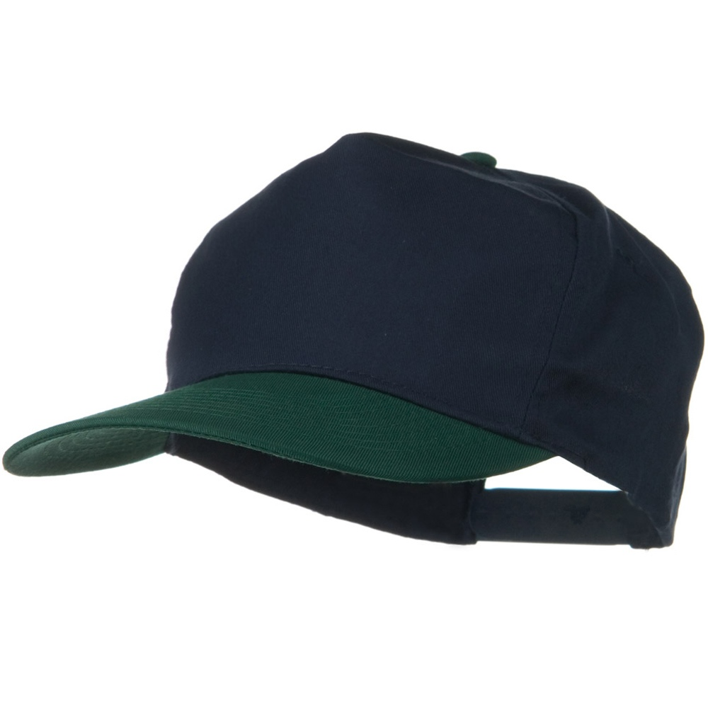 2 Tone Cotton Twill Pro style Golf Cap - Green Navy - Hats and Caps Online Shop - Hip Head Gear