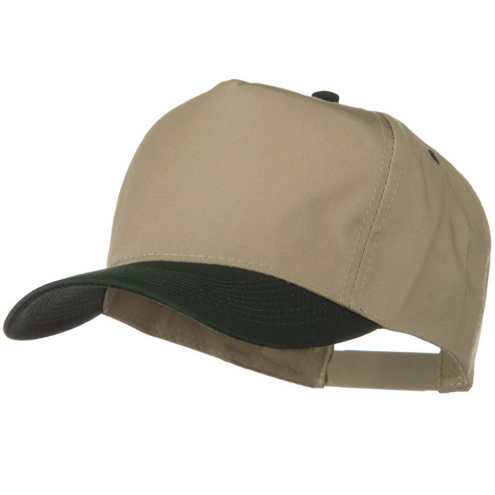 2 Tone Cotton Twill Pro style Golf Cap - Green Khaki - Hats and Caps Online Shop - Hip Head Gear
