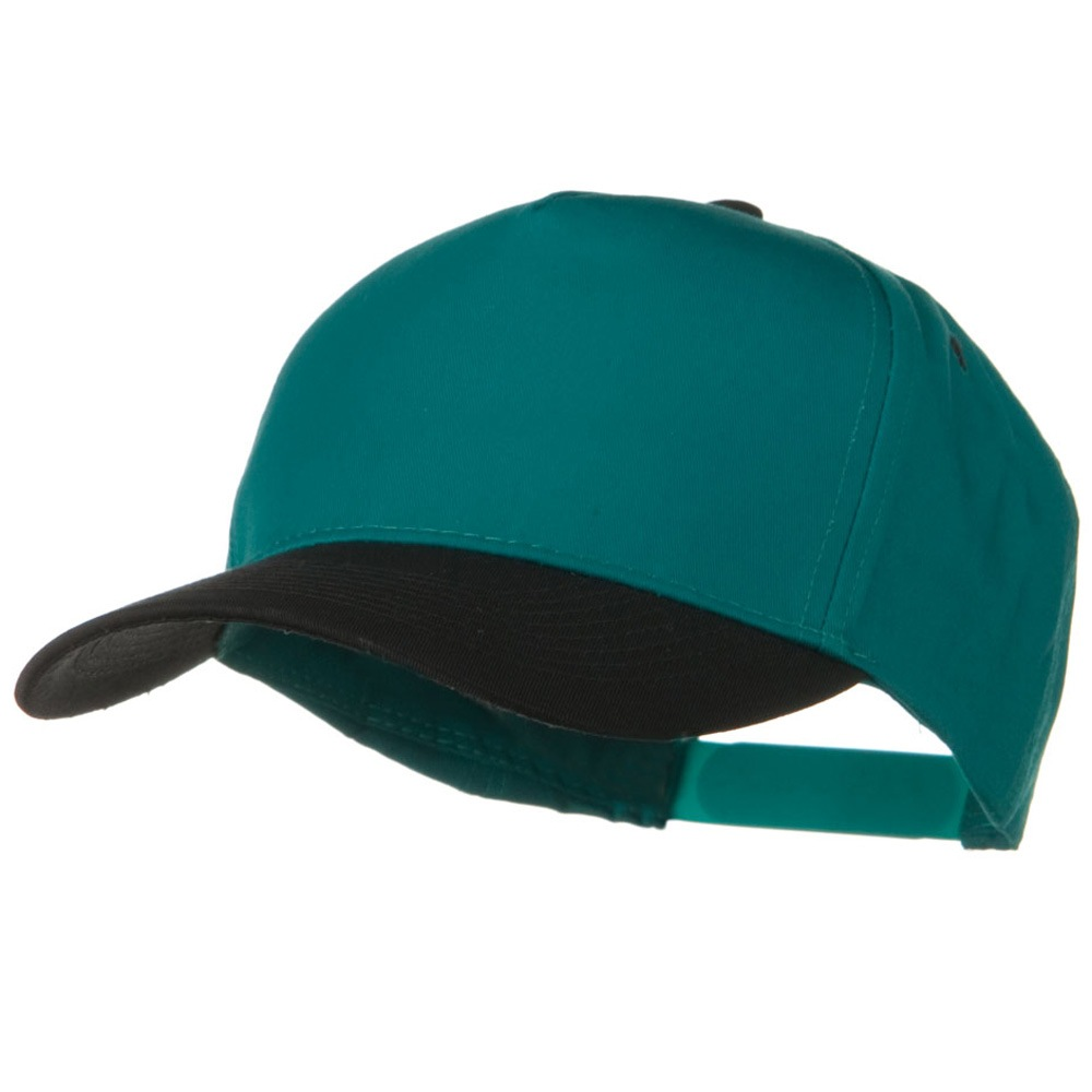 Cotton Twill Two Tone 5 Panel Prostyle Snap Cap - Black Jade - Hats and Caps Online Shop - Hip Head Gear