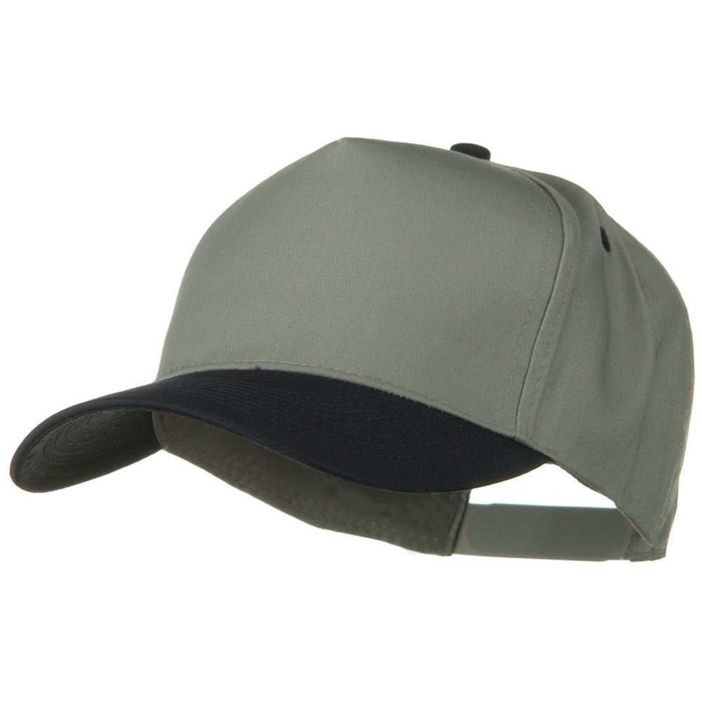 Cotton Twill Two Tone 5 Panel Prostyle Snap Cap - Navy Grey - Hats and Caps Online Shop - Hip Head Gear