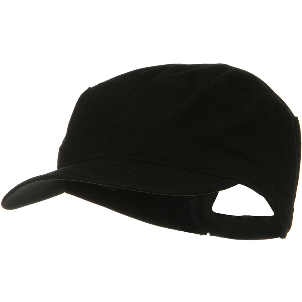 Big Size Solid Military Cap - Black - Hats and Caps Online Shop - Hip Head Gear