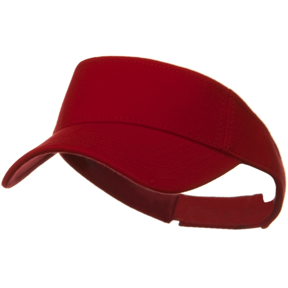 Comfy Cotton Jersey Knit Sun Visor - Red - Hats and Caps Online Shop - Hip Head Gear