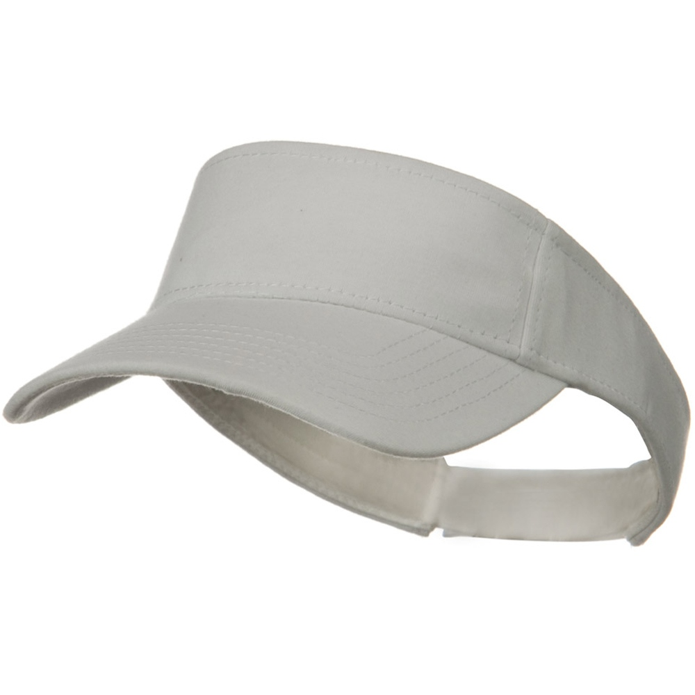 Comfy Cotton Jersey Knit Sun Visor - White - Hats and Caps Online Shop - Hip Head Gear
