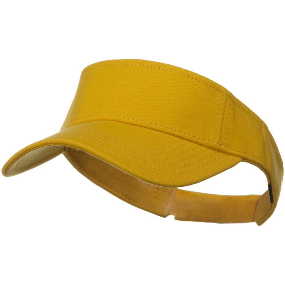 Comfy Cotton Jersey Knit Sun Visor - Yellow - Hats and Caps Online Shop - Hip Head Gear