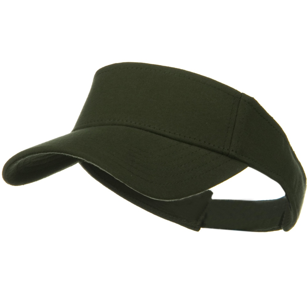 Comfy Cotton Jersey Knit Sun Visor - Military Green - Hats and Caps Online Shop - Hip Head Gear