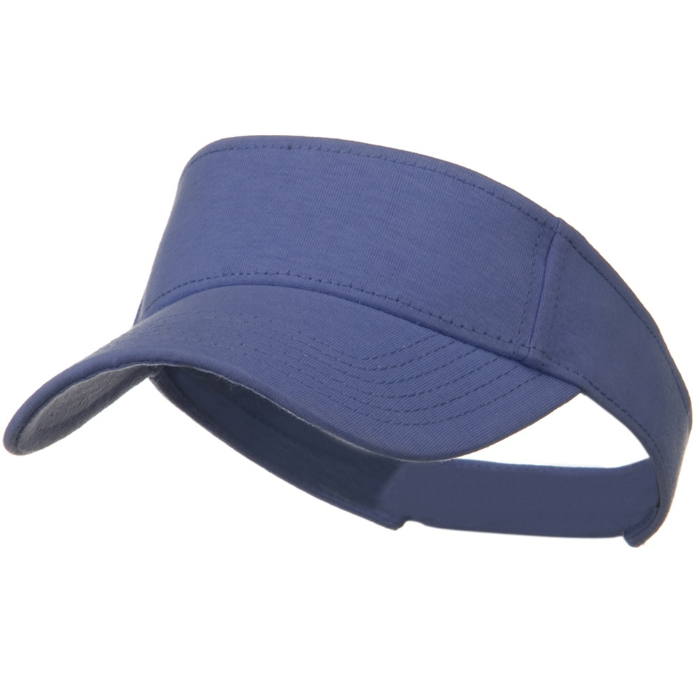 Comfy Cotton Jersey Knit Sun Visor - Violet - Hats and Caps Online Shop - Hip Head Gear