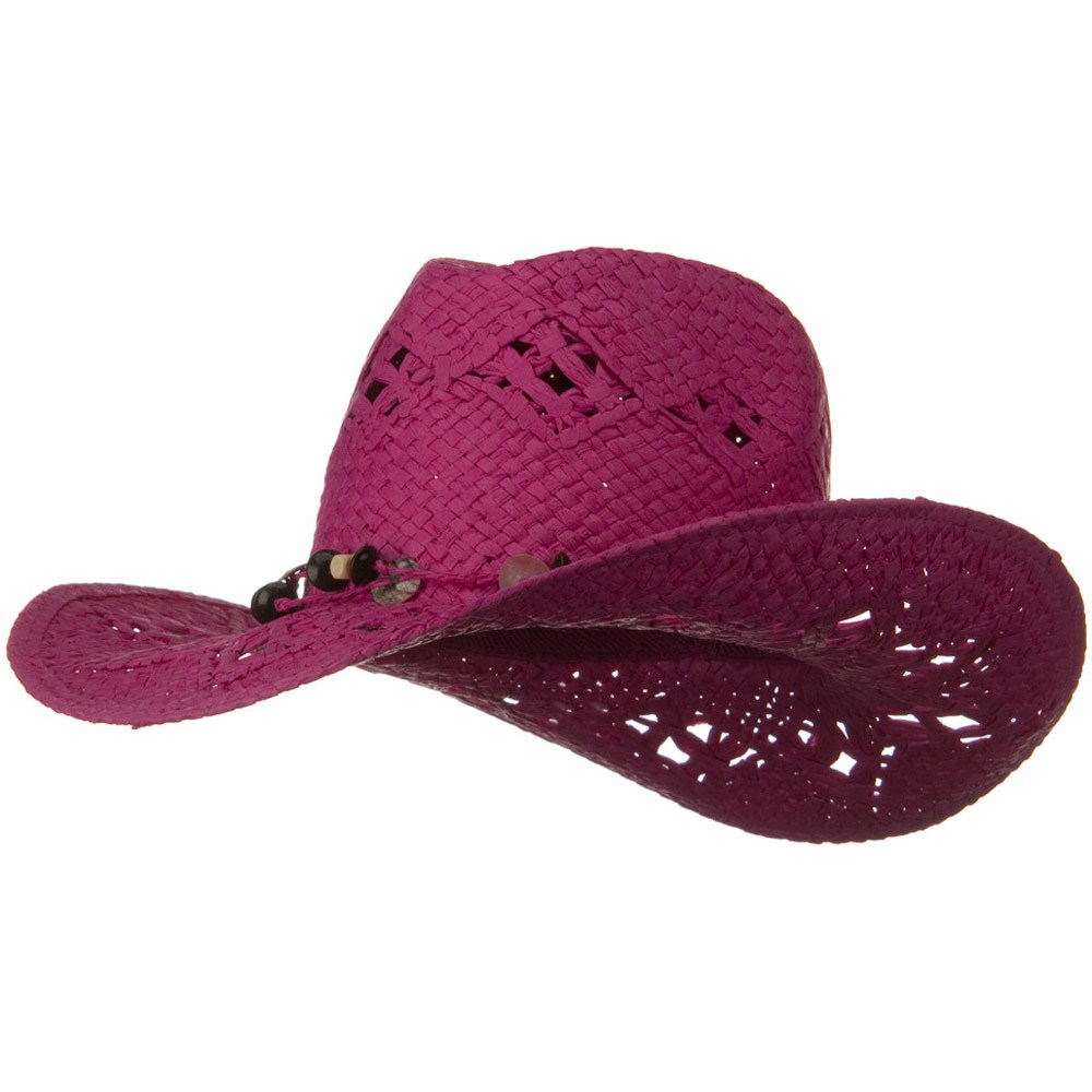 Ladies Vented Toyo Cowboy Hat - Fuchsia - Hats and Caps Online Shop - Hip Head Gear