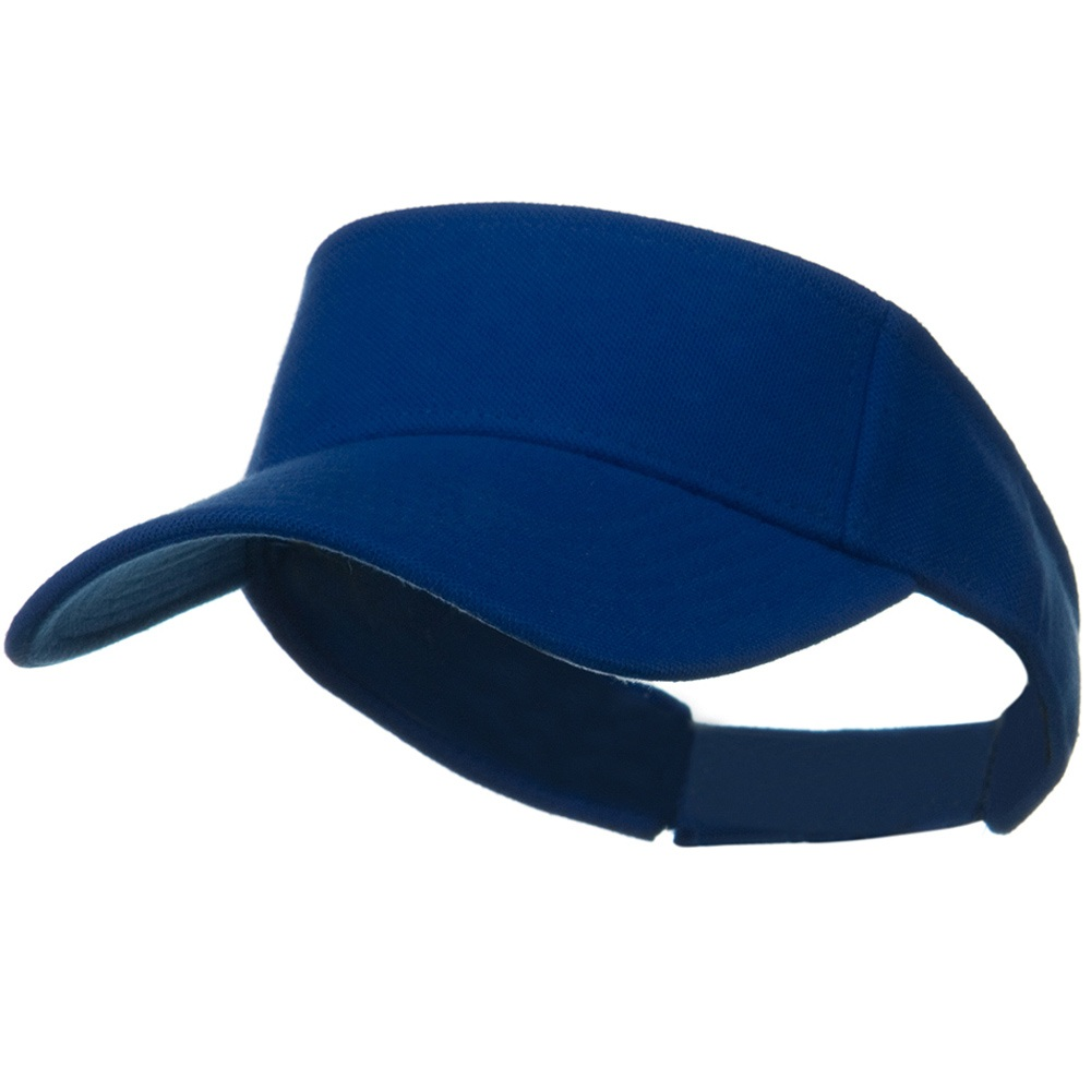 Comfy Cotton Pique Knit Sun Visor - Royal - Hats and Caps Online Shop - Hip Head Gear