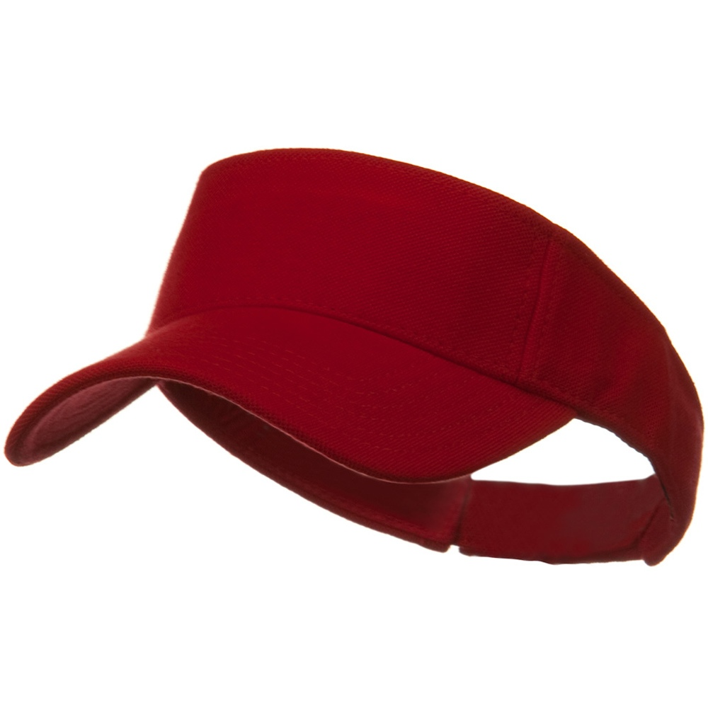 Comfy Cotton Pique Knit Sun Visor - Red - Hats and Caps Online Shop - Hip Head Gear