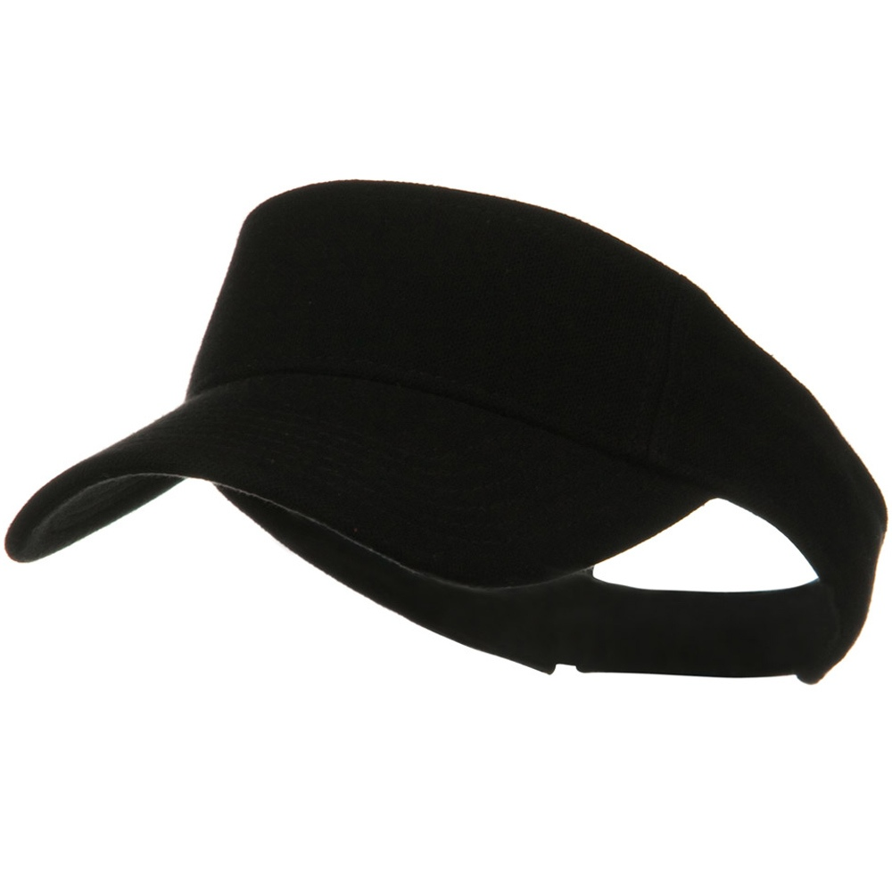 Comfy Cotton Pique Knit Sun Visor - Black - Hats and Caps Online Shop - Hip Head Gear