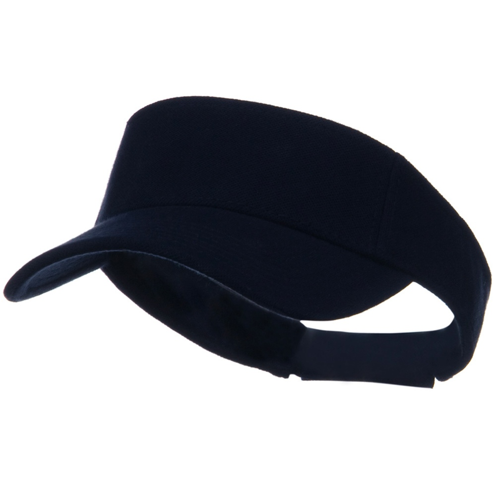 Comfy Cotton Pique Knit Sun Visor - Navy - Hats and Caps Online Shop - Hip Head Gear