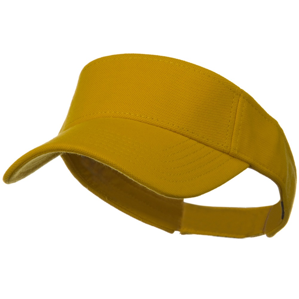 Comfy Cotton Pique Knit Sun Visor - Gold - Hats and Caps Online Shop - Hip Head Gear