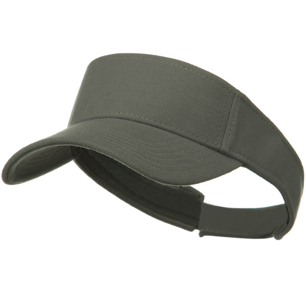 Comfy Cotton Pique Knit Sun Visor - Grey - Hats and Caps Online Shop - Hip Head Gear