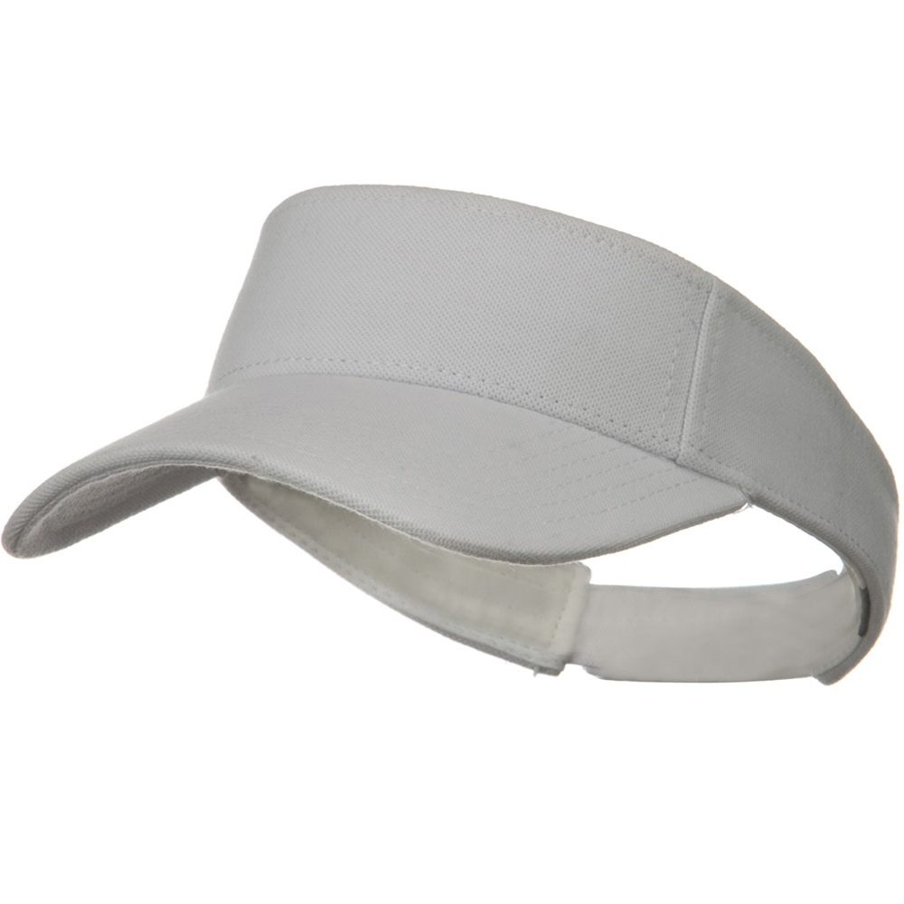 Comfy Cotton Pique Knit Sun Visor - White - Hats and Caps Online Shop - Hip Head Gear